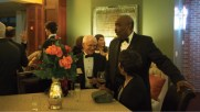 Honoree Joe Ballard, MS EMgt'72, visits with guests during the reception.