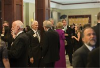 Current and former faculty were among the guests who turned out to help honor the 10 Alumni of Influence at the reception that kicked off the gala.