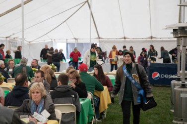Alumni tailgate before the S&T homecoming football game in the parking lot of Gale Bullman Multi-Purpose Building. Sam O'Keefe/Missouri S&T