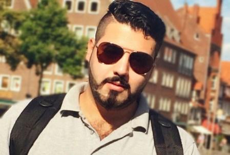 Foto: Adnan in der Stadt Lüneburg