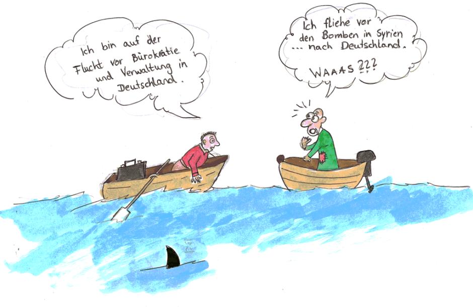 Karikatur von S. Alhamdan.