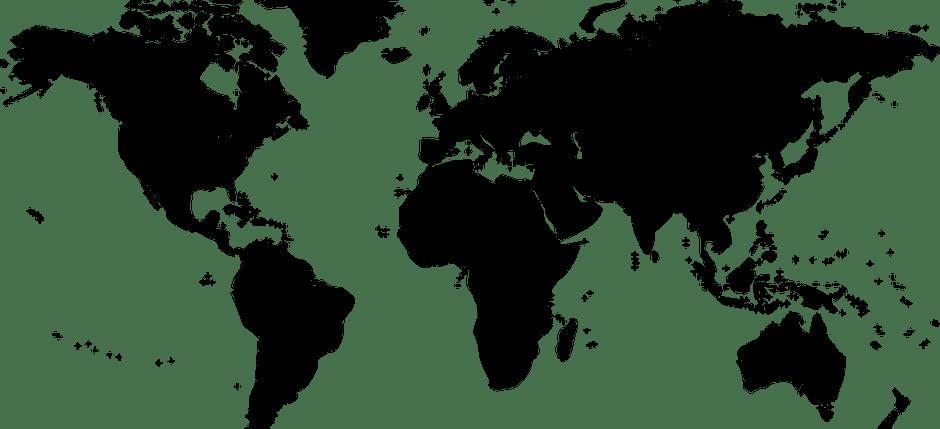 Weltkarte SW