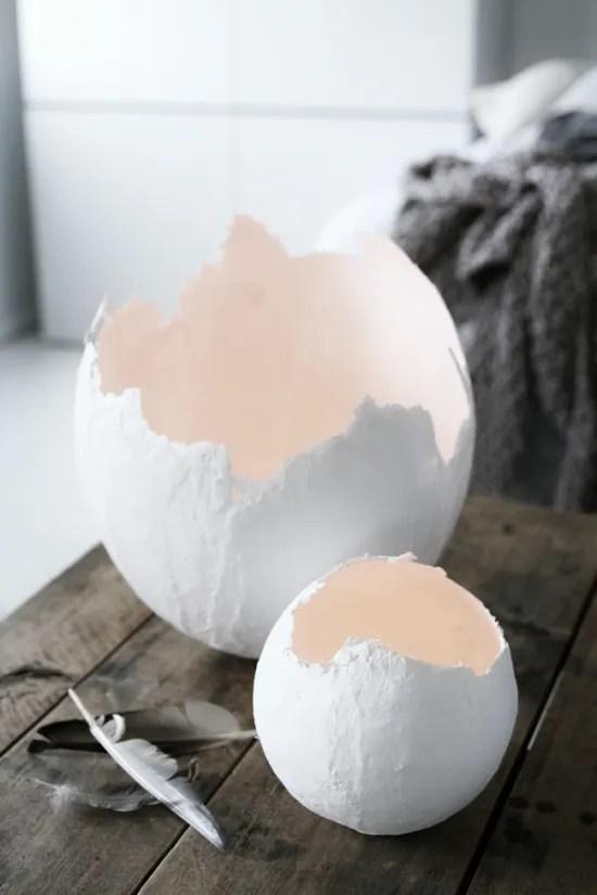decorazioni per la Pasqua - uova di gesso