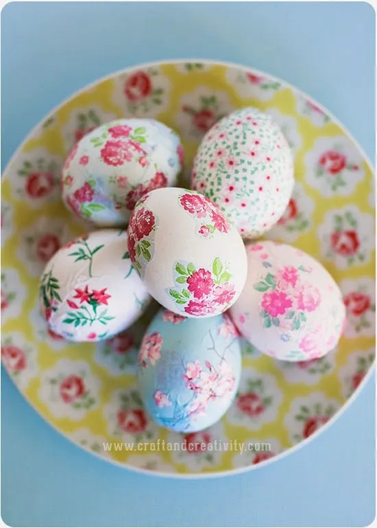 decorazioni per la Pasqua - uova decoupage