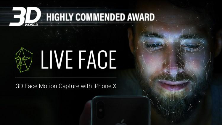 LiveFace_3DWorld_HighlyCommededAward.jpg