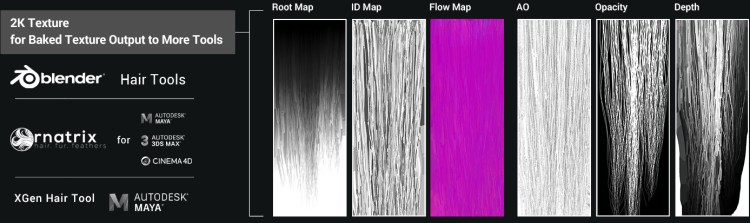 Reallusion's Smart Hair system is compatible with major 3D hair design solutions like Ornatrix, XGen, and Blender hair plugins