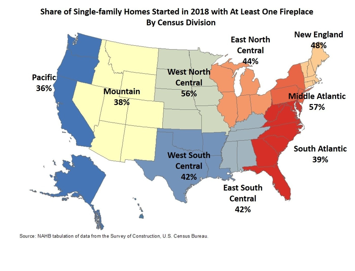 NAHB fireplace map. Visit source link at the end of this article for more information.