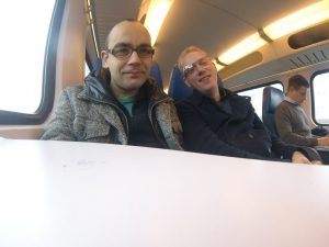 Samir and Jurjen on the way to Roermond