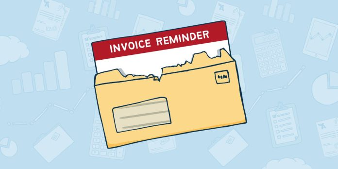 A letter is seen with an invoice peering out.