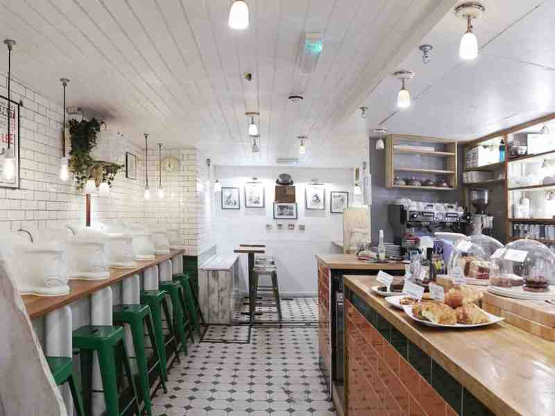 Interior of Attendant Cafe fitzrovia