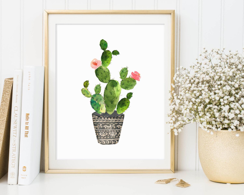 illustrazione cactus home decor