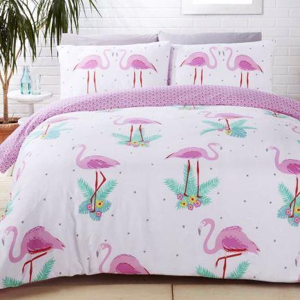 copriletto fenicotteri rosa