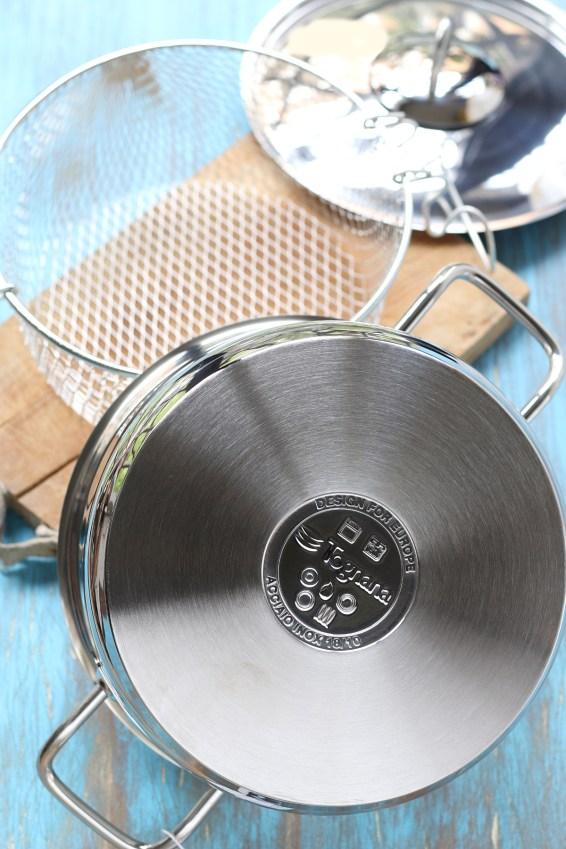 Pentola friggitrice con cestello