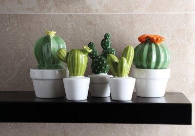 soprammobili estivi - cactus in ceramica tognana