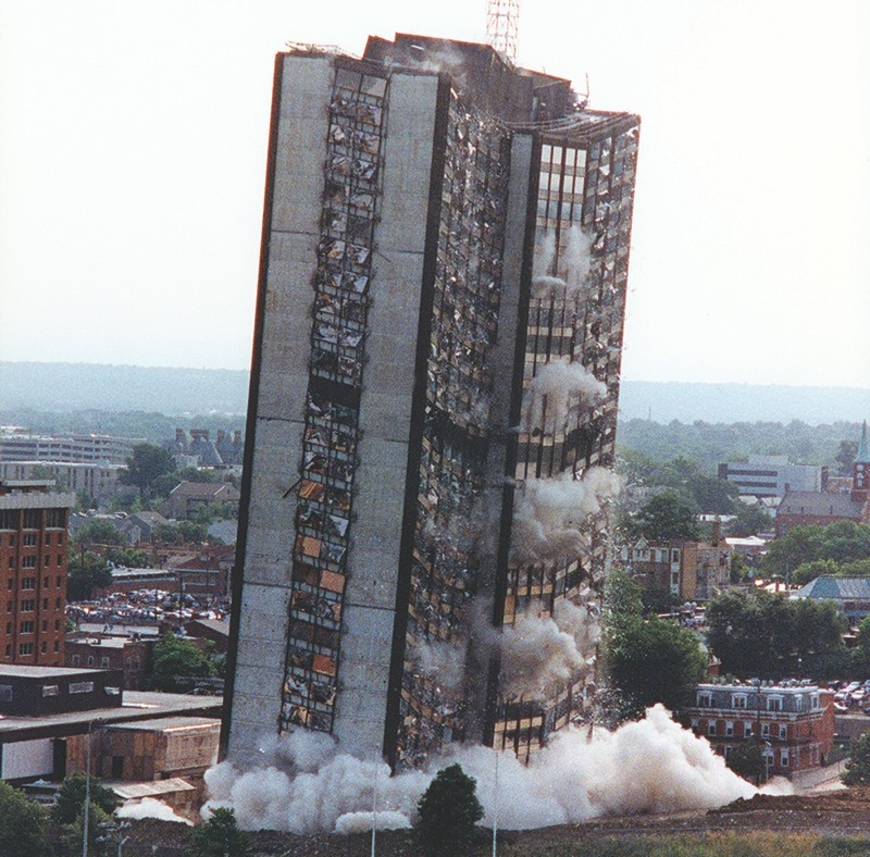 Image result for implosion of building
