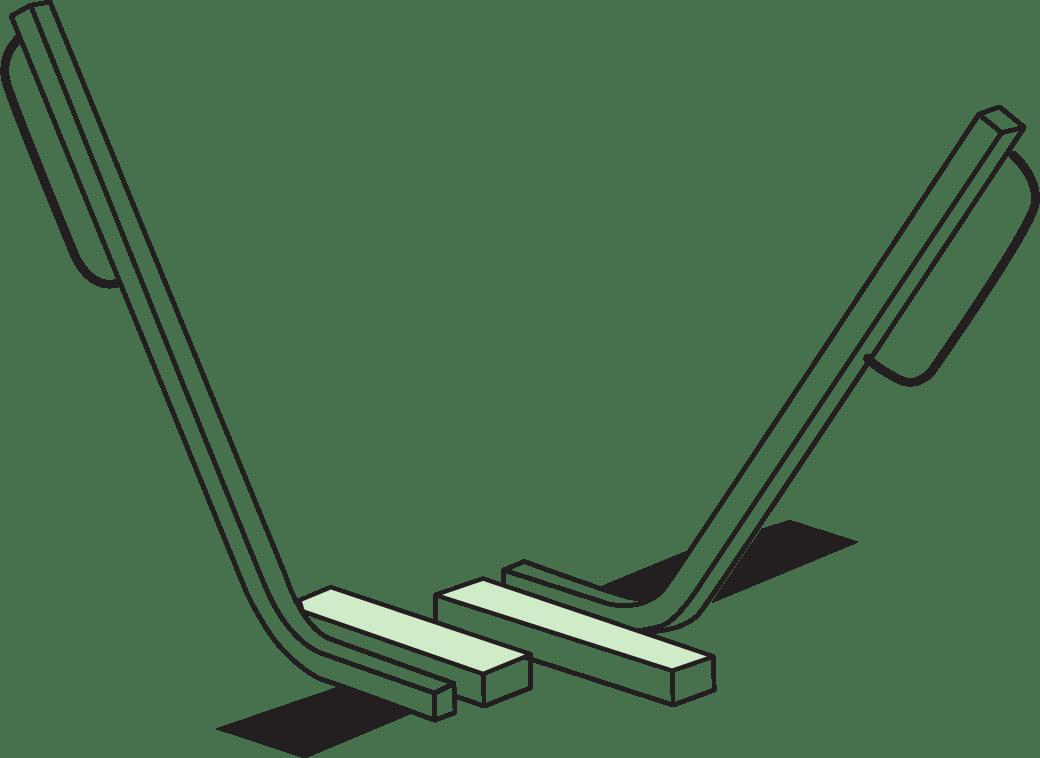 Illustration: lightning bolt bike rack