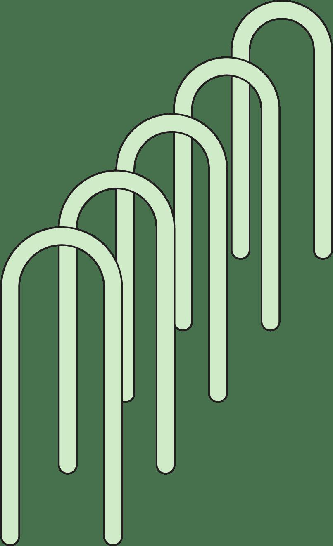 Illustration: inverted U rack