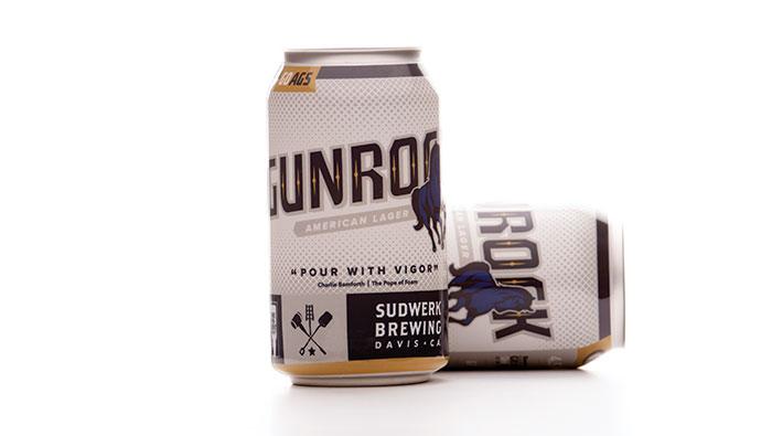 Gunrock lager beer cans