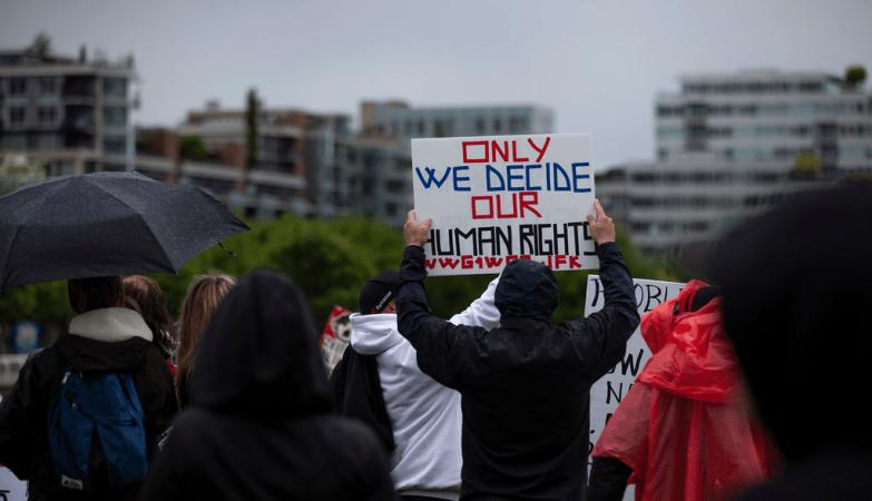 COVID-19 Anti-Lockdown Protest in Vancouver