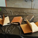 notebooks on table at ancient studies reunion