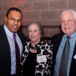 Hrabowski poses with couple at Hilltop Society