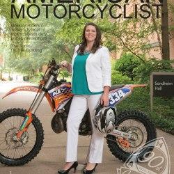 Amanda Knapp on cover of American Motorcyclist Magazine