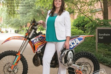 Amanda Knapp on cover of American Motorcyclist Magazine