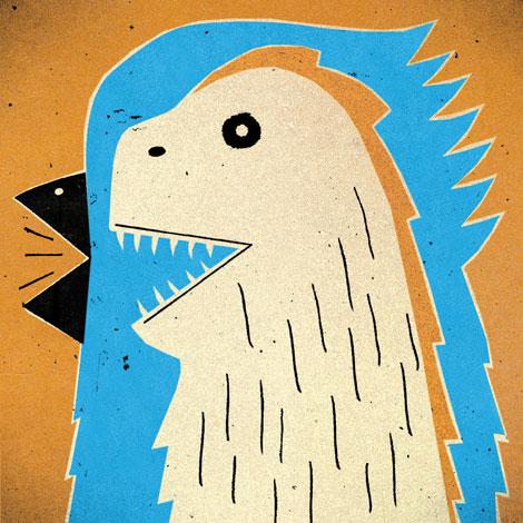 Bird and Dinosaur Combonation Illustration