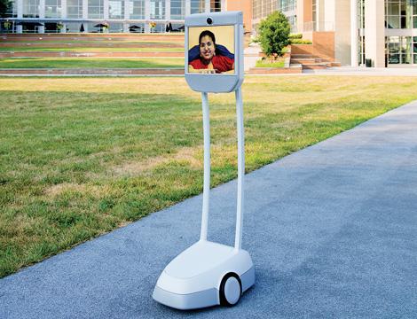 Kavita virtually walks around campus