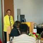 Sylvia Brown gives speech