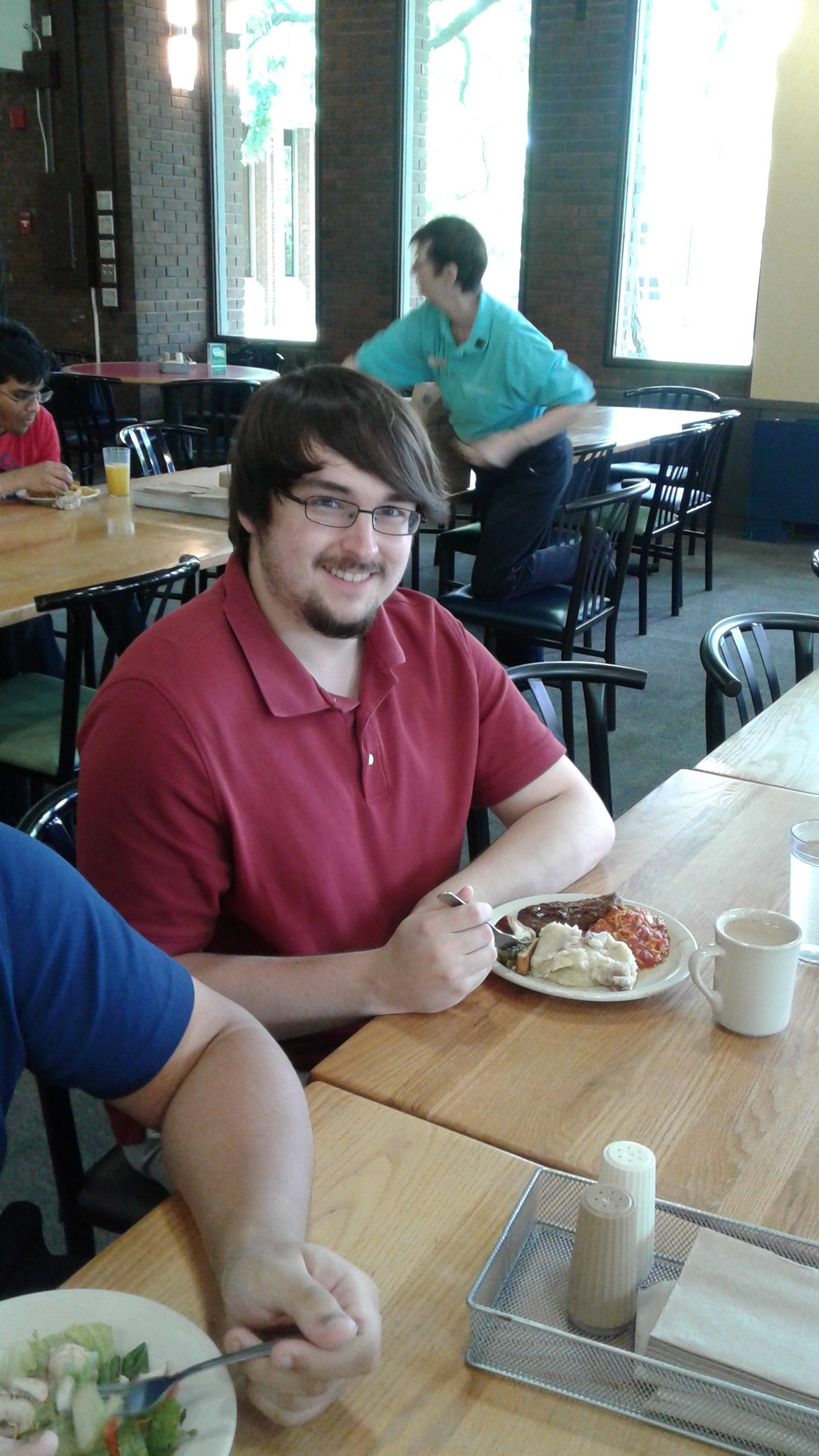 Bryan Wentz eats dhall food