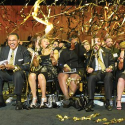 President Hrabowski and others celebrate at event