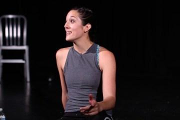 Katie Kopajtic performing an act