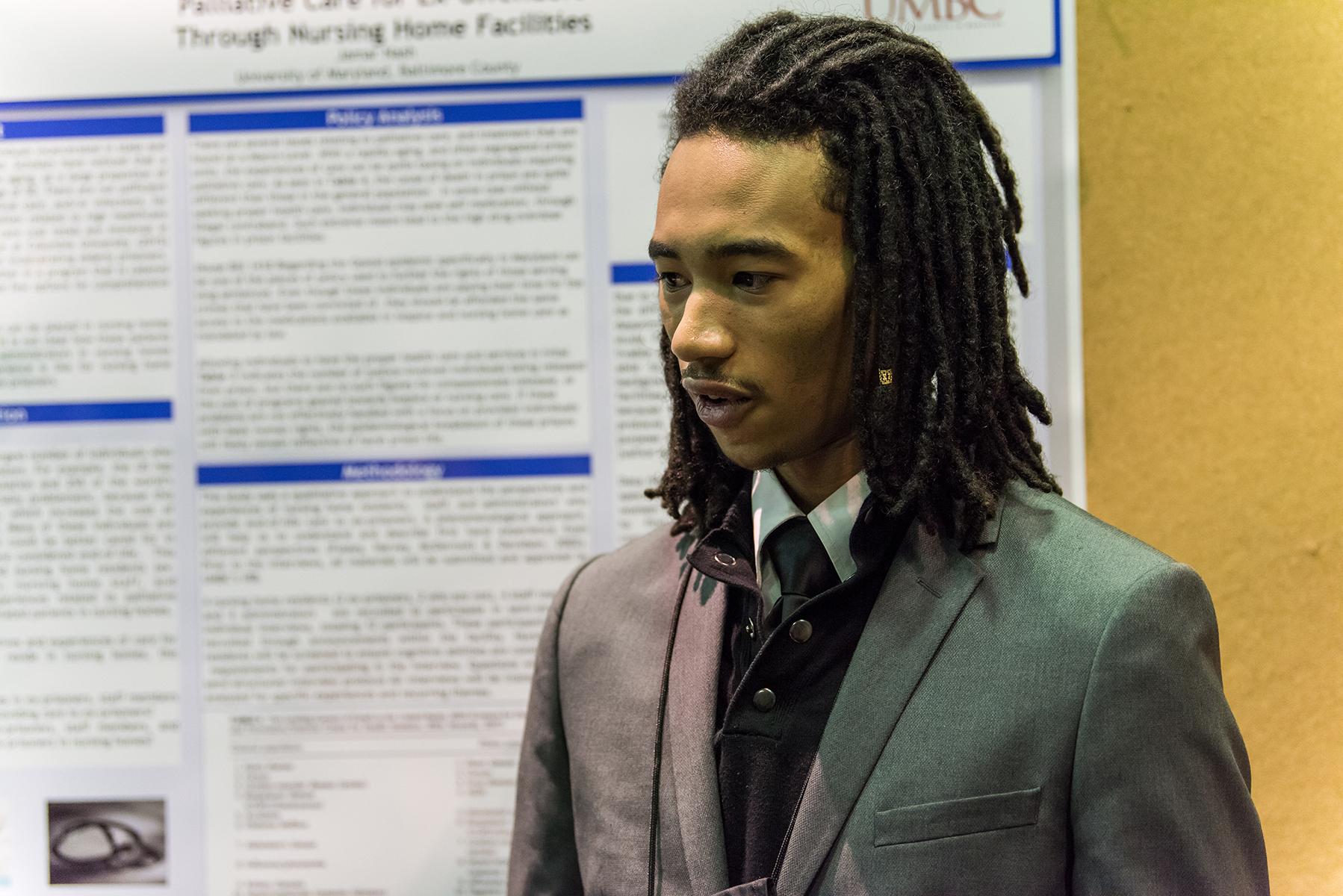 Jamar Nash presents findings for URCAD