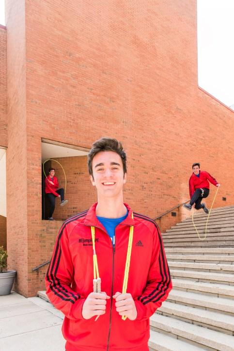 Devin Meek, UMBC student and pro jump roper.