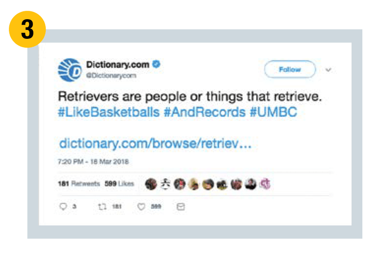 Dictionary.com tweets that Retrievers are people or things that retrieve