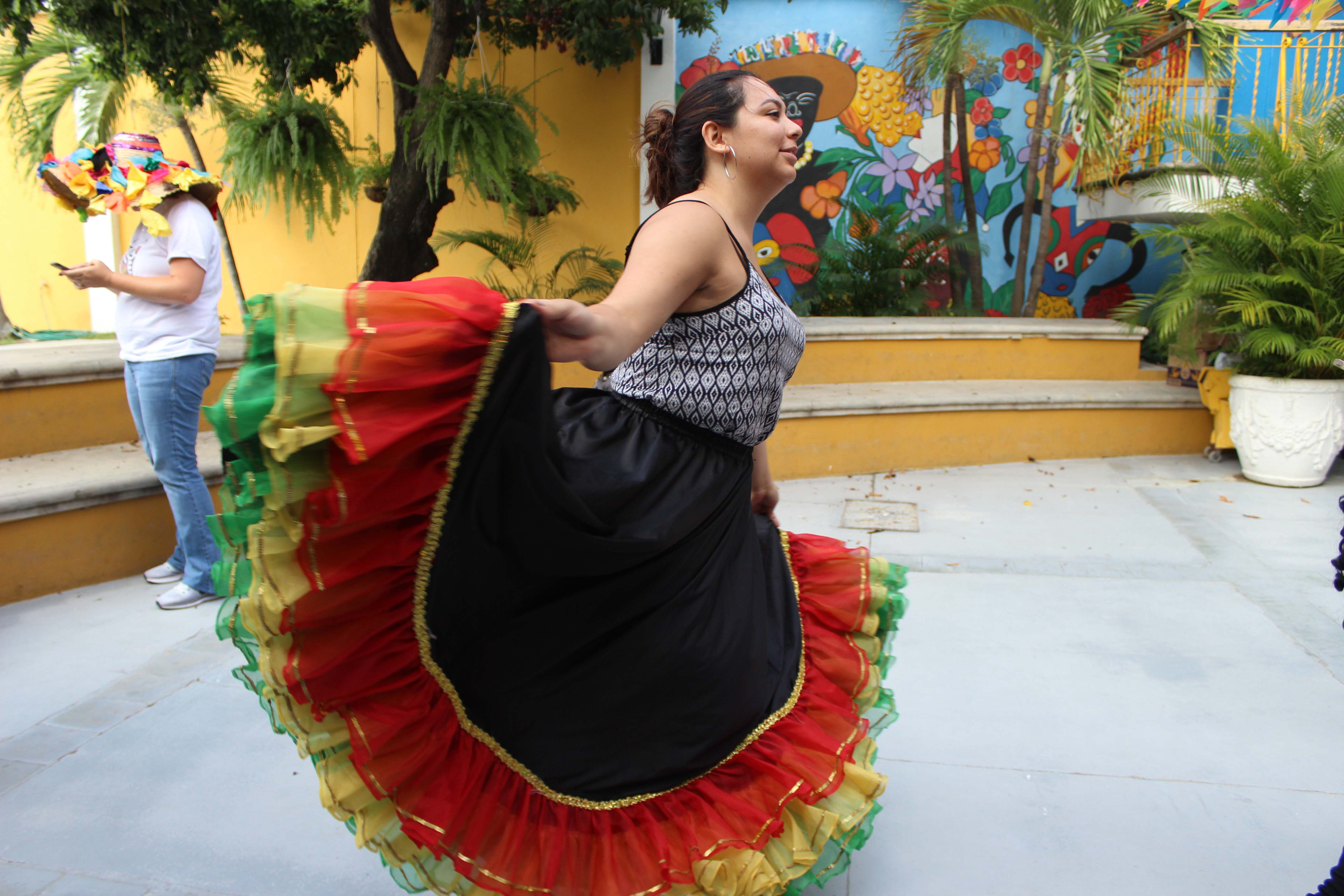 Traditional foreign dancer performing
