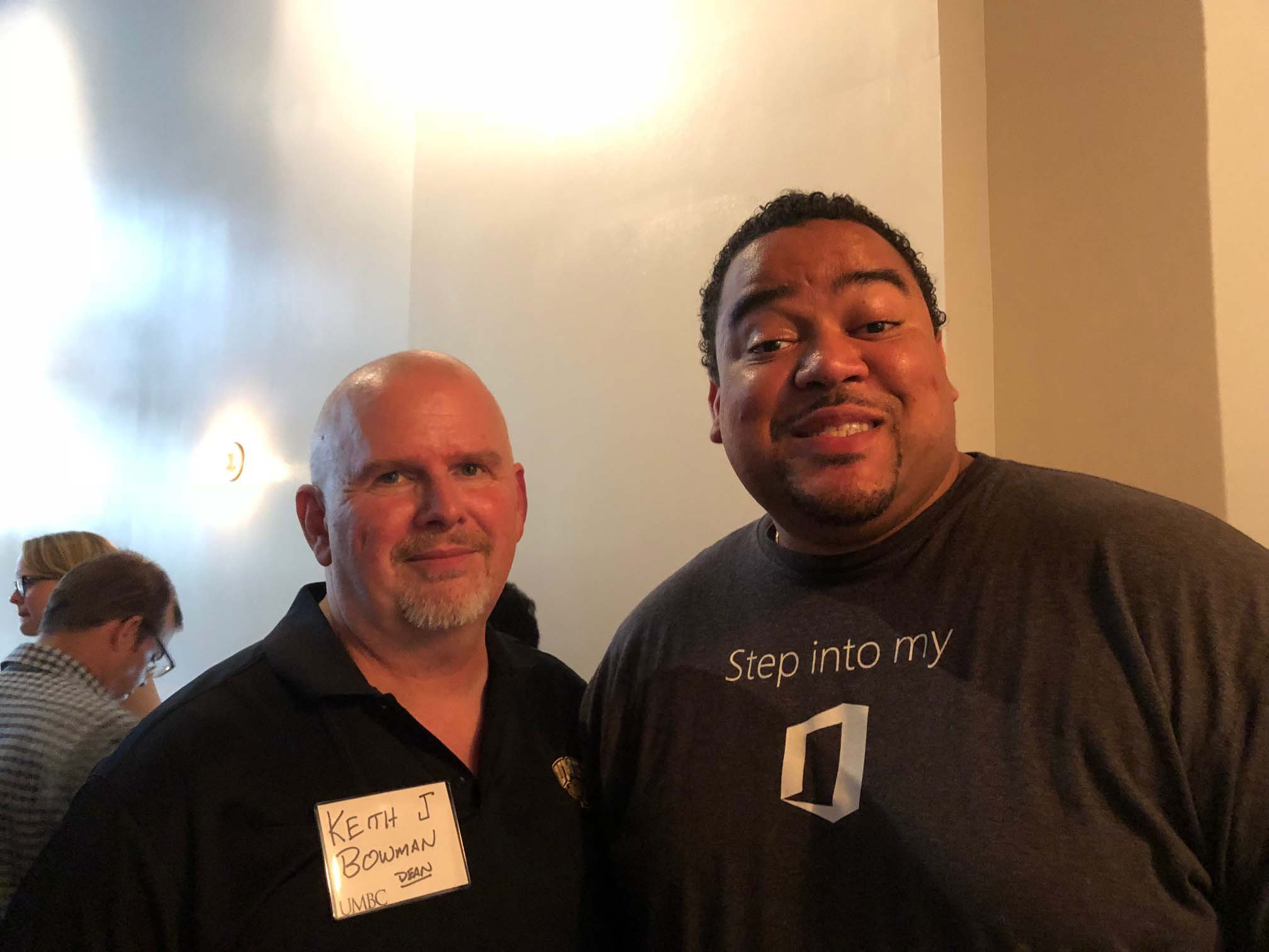 Keith Bowman and other pose together at Seattle Networking