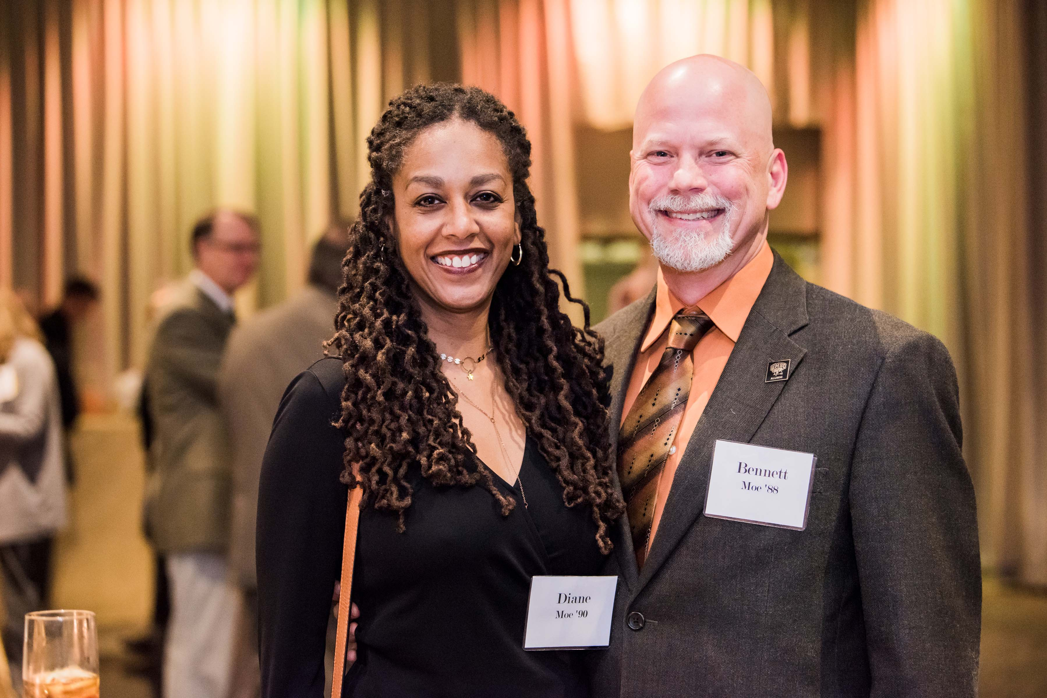 Diane and Bennett Moe pose together for Annual celebration
