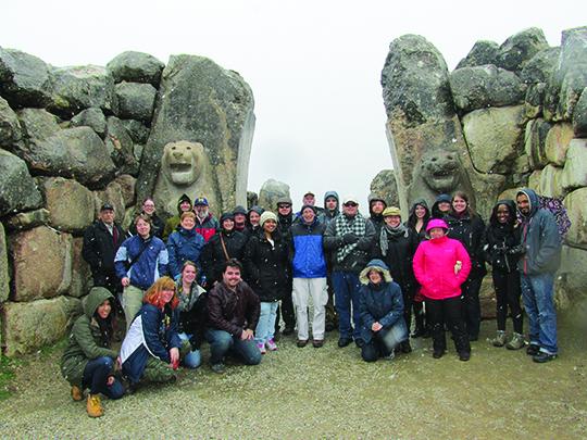 The ANCS Study Tour visits the Lion Gates at the Hittite Capital of Hattusa, Turkey.