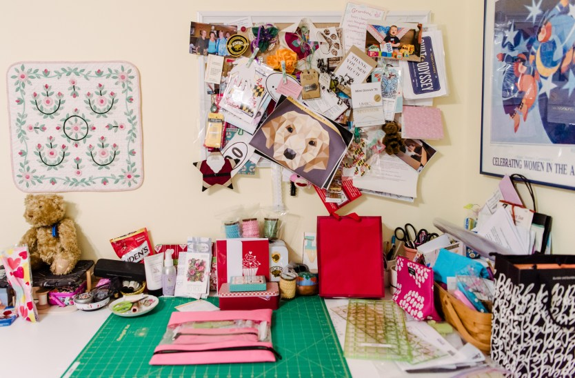 Behind the scenes: Dietrich's work space. We think we spy a Retriever project in the works!
