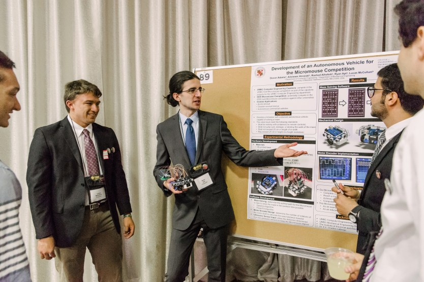 Mechanical Engineering capstone students explain their research.