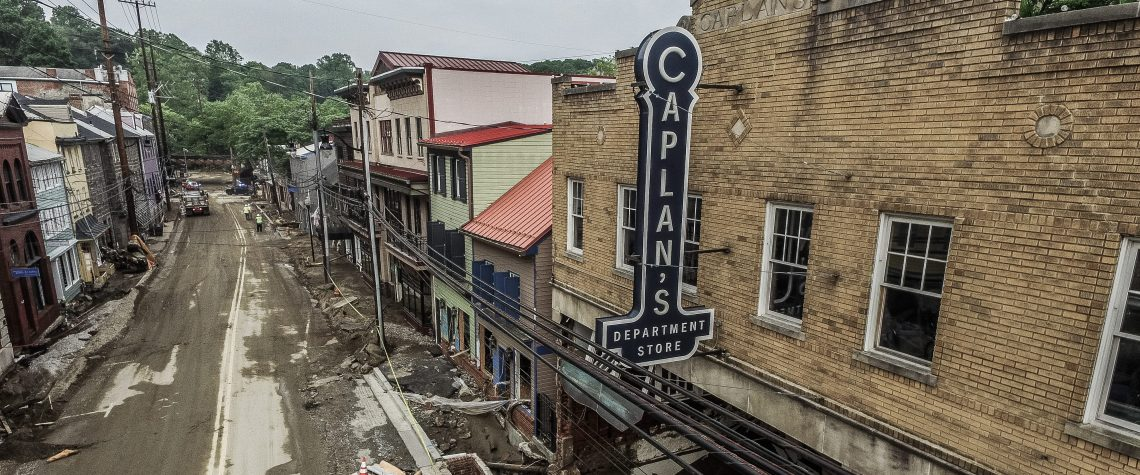 Aftermath of the flood damage. Photo by Mark Baxter @SkySightVIP
