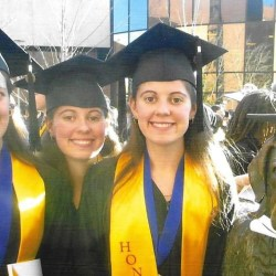 Sisters Michelle, Melissa, and Melanie Biddinger will earn their master's of teaching degrees together this winter.