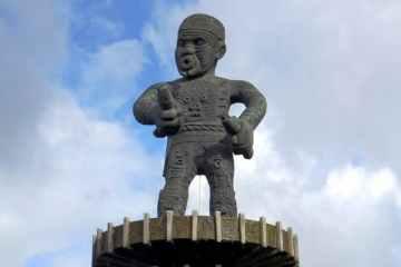 Statue of the Berbice slave revolt leader Kofi in Georgetown, Guyana. David Stanley - Flickr/WikiMedia, CC BY-SA