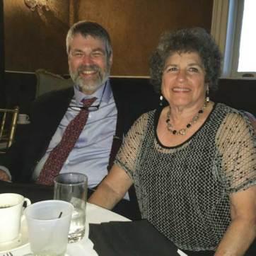 Marty Spigel Sedoff in 2017, with husband Bob