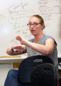 Building connections between students and faculty was critical to Assistant Professor of Biology April Wynn.