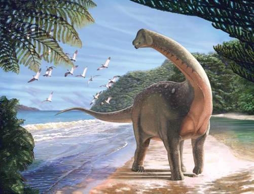 Mansourasaurus shahinae, illustrated by Andrew McAfee. Courtesy of Carnegie Museum of Natural History.