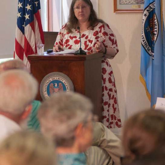 "Elizabeth ""Betsy"" Rohaly Smoot '82 recently retired as a historian with the National Security Agency."