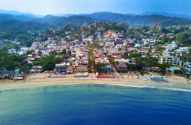 Playa de Sayulita en Riviera Nayarit, México